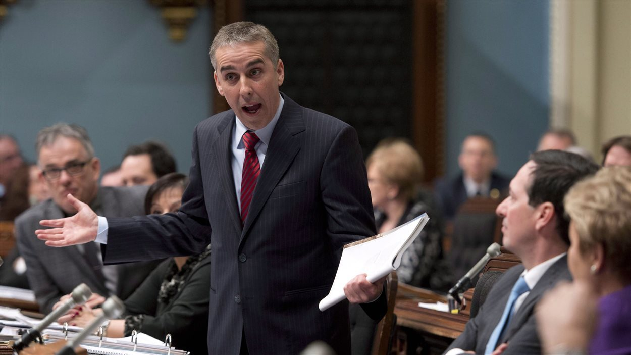 Le ministre des Finances, Nicolas Marceau, au moment de déposer son budget