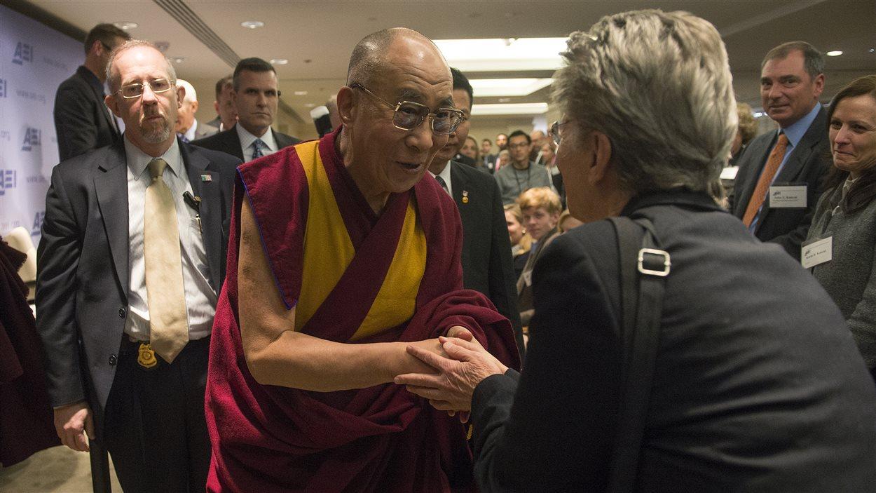 Le dalaï-lama en visite à l'American Enterprise Institute, à Washington, le 20 février 2014