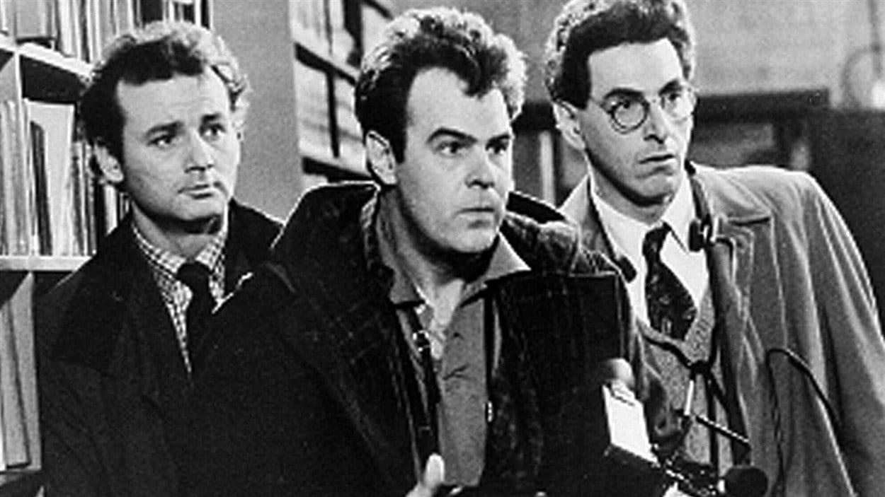 Bill Murray, Dan Akroyd et Harlod Ramis dans le film Ghostbusters