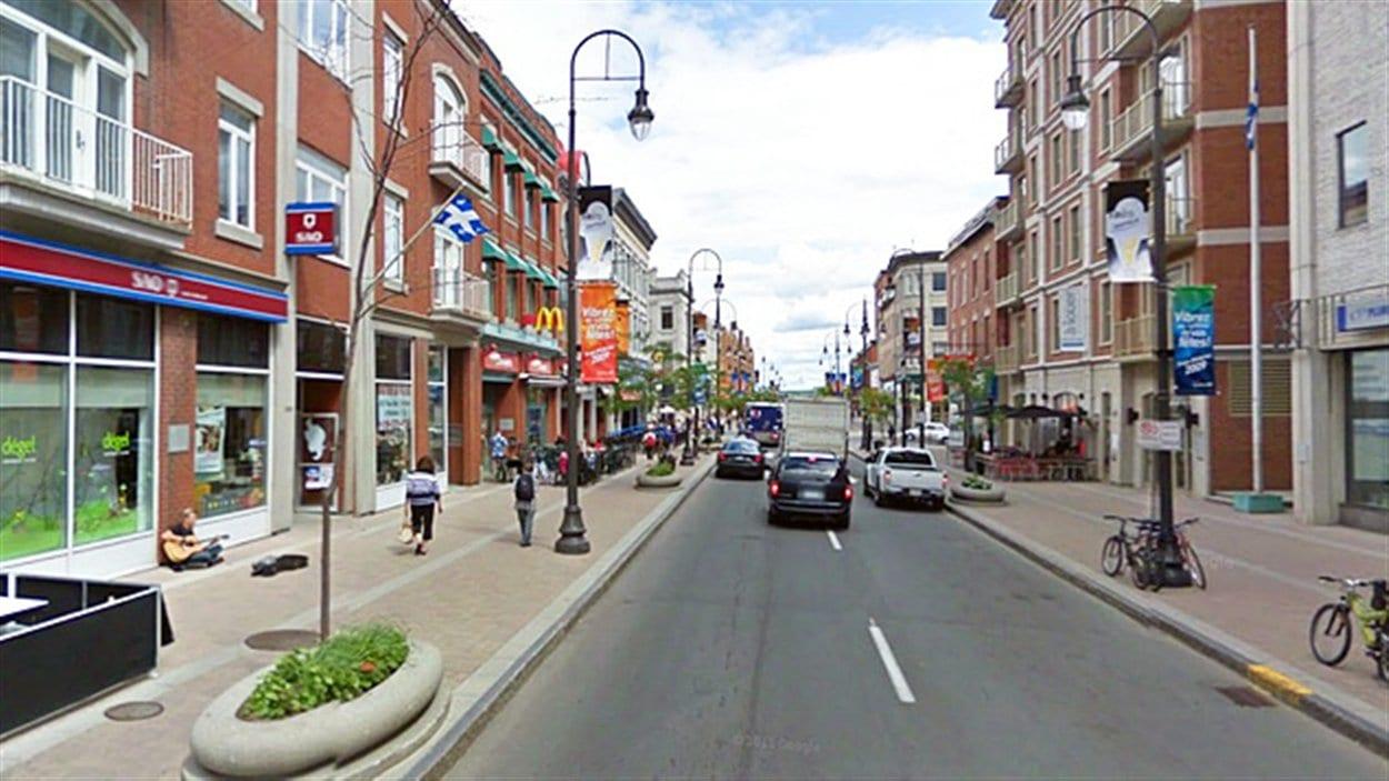 La rue des Forges, au centre-ville de Trois-Rivières