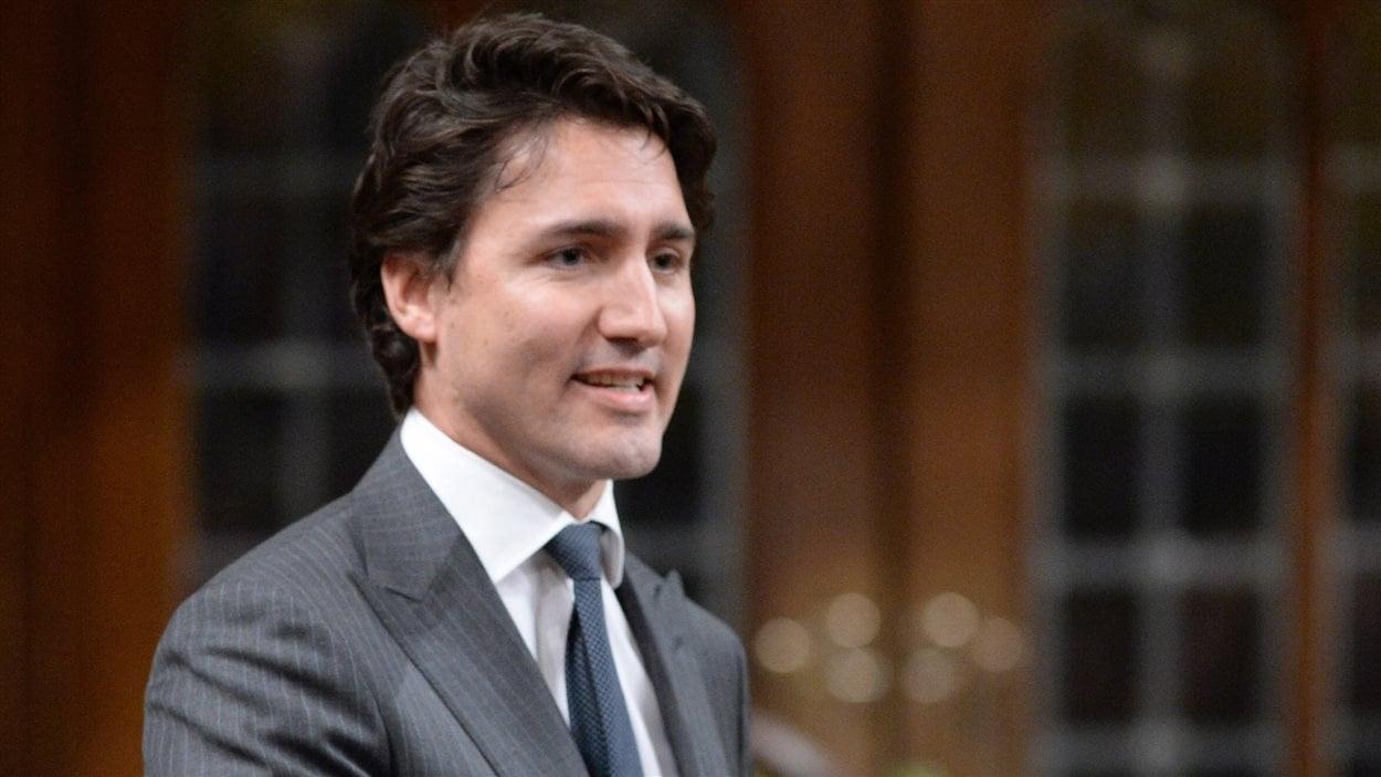 Le chef du Parti libéral du Canada Justin Trudeau pendant la période de question au Parlement, le 25 février 2014