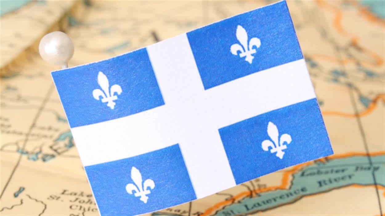 Carte du Québec et drapeau