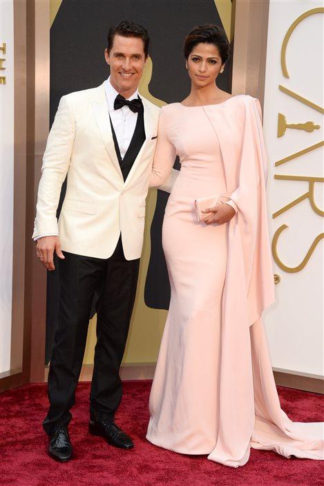 L'acteur Matthew McConaughey et Camila Alves