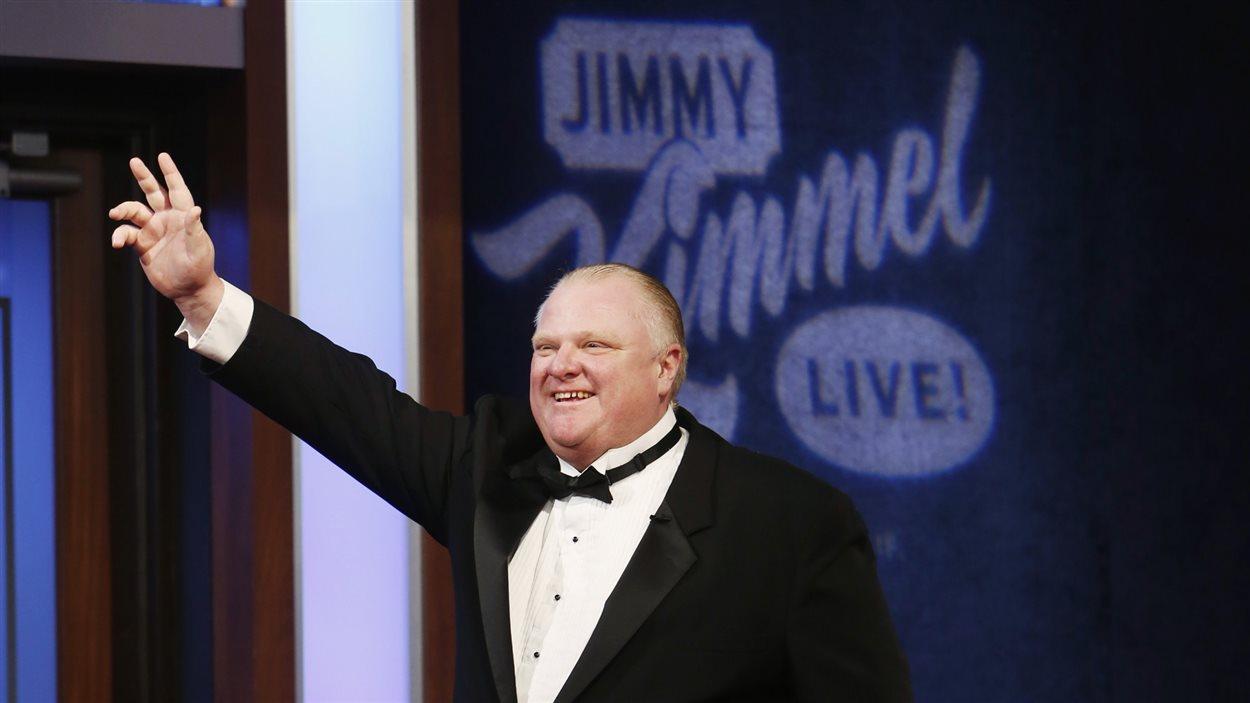 Rob Ford lors sa première apparation à l'émission «Jimmy Kimmel Live», dimanche soir