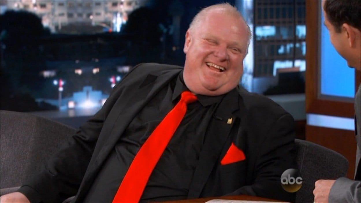 Le maire de Toronto, Rob Ford, était l'invité du talk-show de Jimmy Kimmel lundi soir.