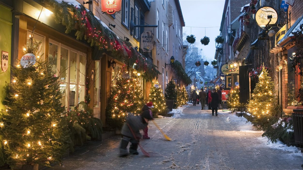 Quartier Petit-Champlain en hiver
