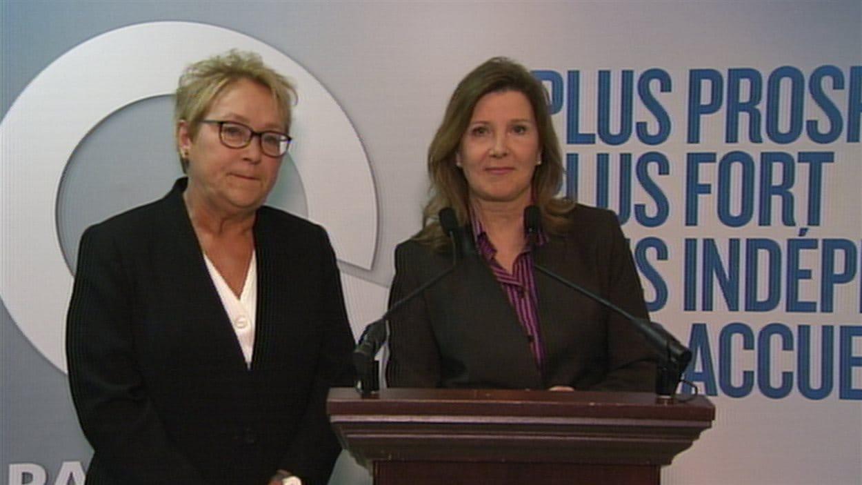 Pauline Marois et Diane Lamarre.