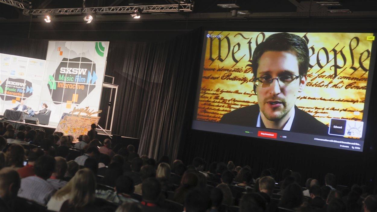 Edward Snowden en conférence à Austin au salon des nouvelles technologies South by Southwest