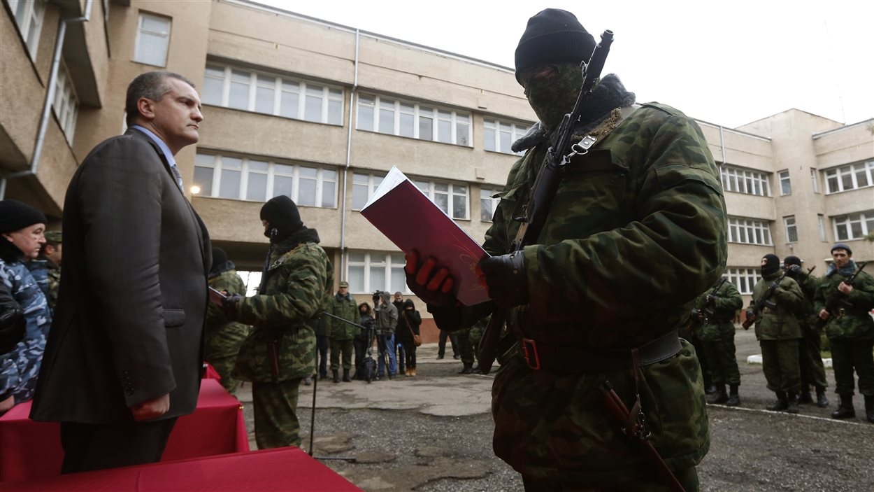 Le premier ministre de Crimée, Sergei Aksyonov, à Simféropol.