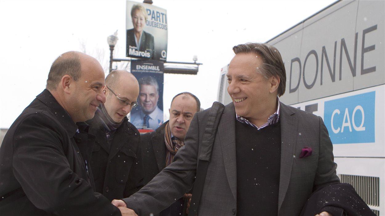 François Legault après une conférence de presse à Québec