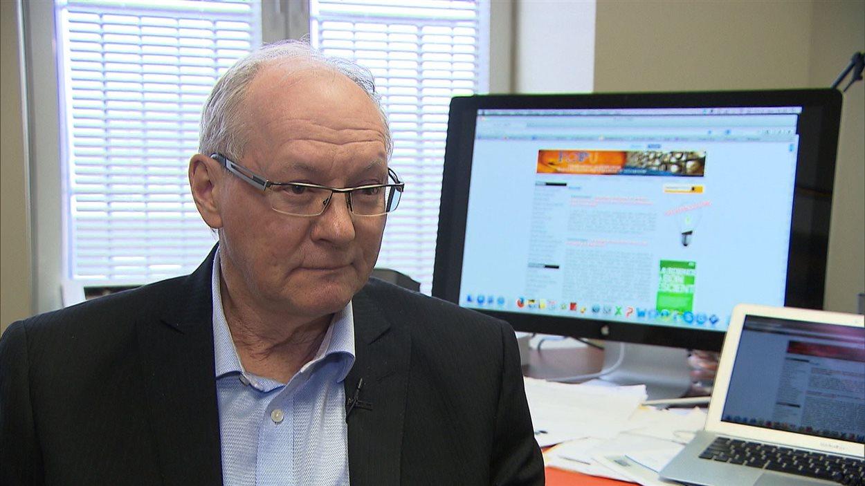 Max Roy, président de la Fédération québécoise des professeures et professeurs d'université