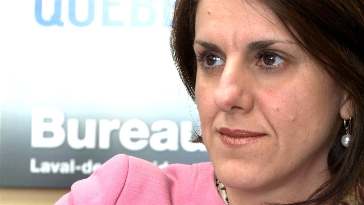 Djemila Benhabib, candidate péquiste dans la circonscription lavalloise de Mille-Îles.