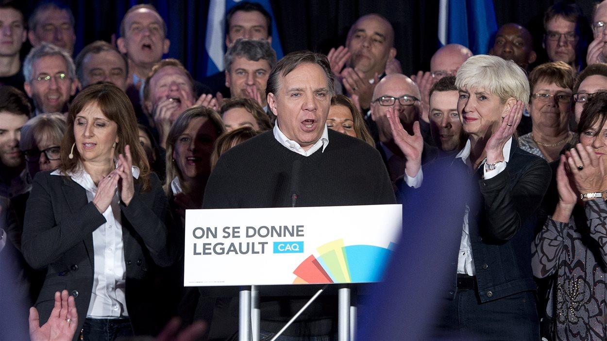 Le chef de la CAQ, François Legault, le dimanche 16 mars, à Repentigny
