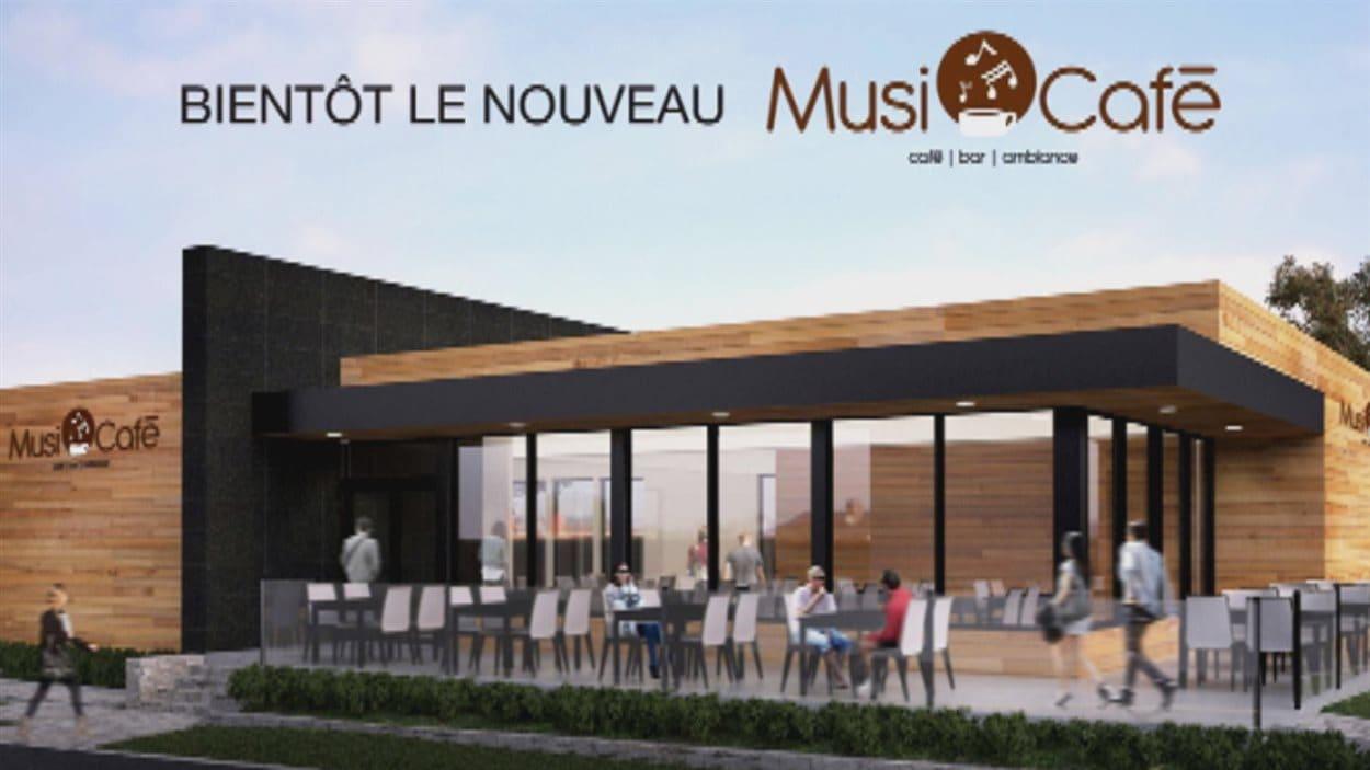 Le nouveau Musi-Café ouvrira ses portes l'été prochain.