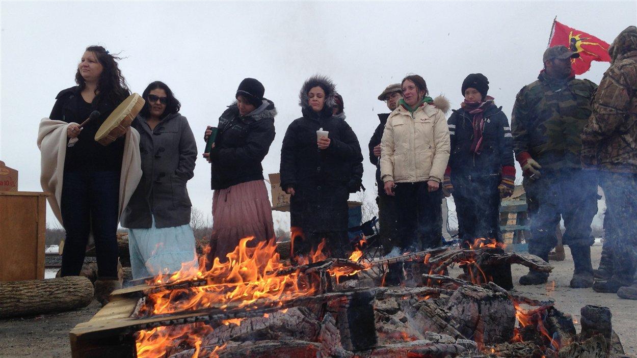 Les manifestants réclament une enquête fédérale sur la disparition de dizaines de femmes autochtones au pays au cours des dernières années.