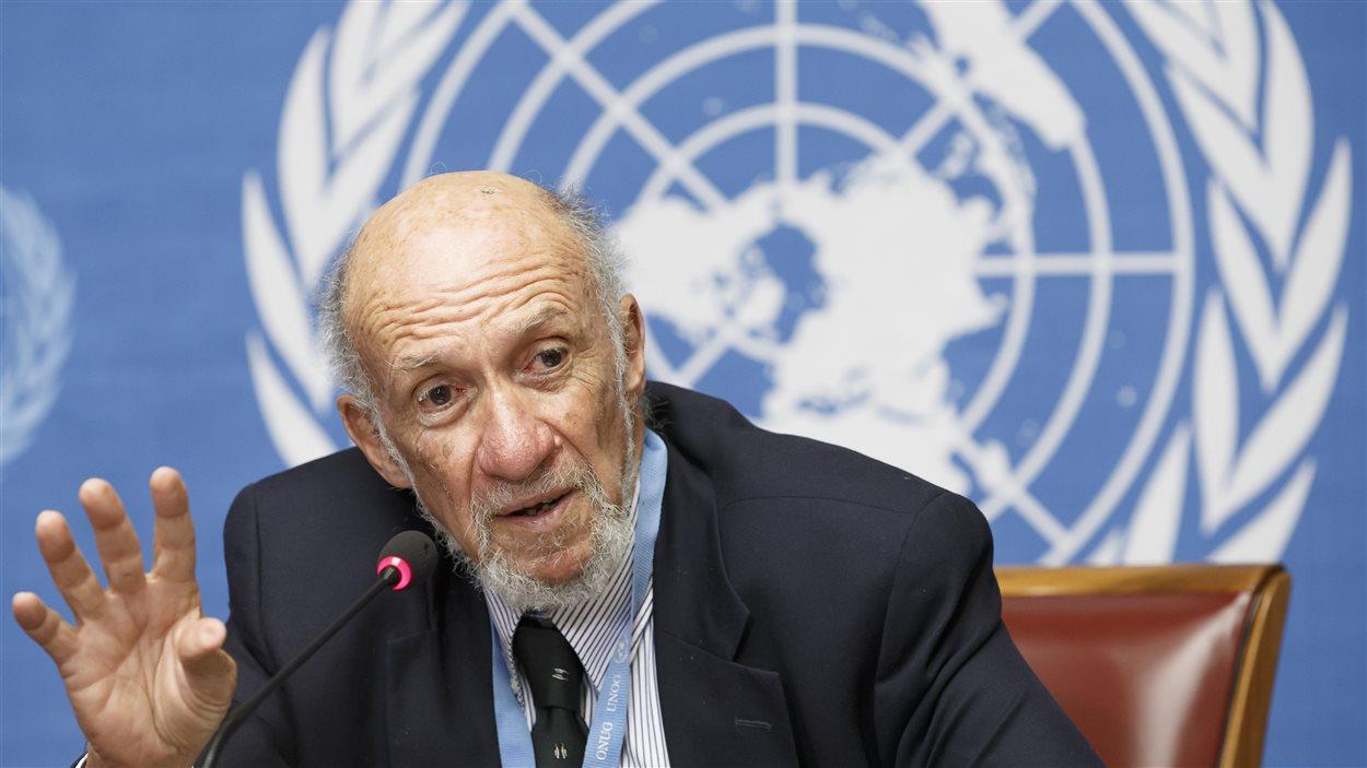 Richard Falk, rapporteur spécial de l'ONU sur la situation des droits de l'homme dans les territoires palestiniens occupés