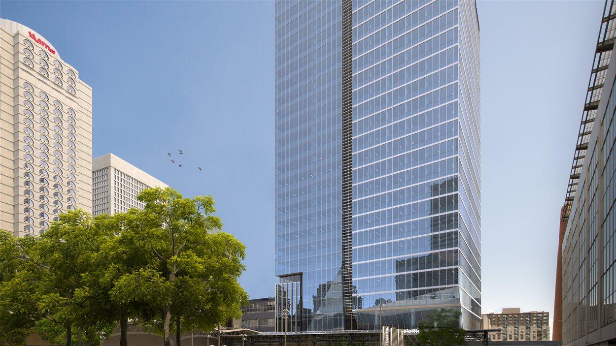 La tour Deloitte, projet de Cadillac Fairview au centre-ville de Montréal