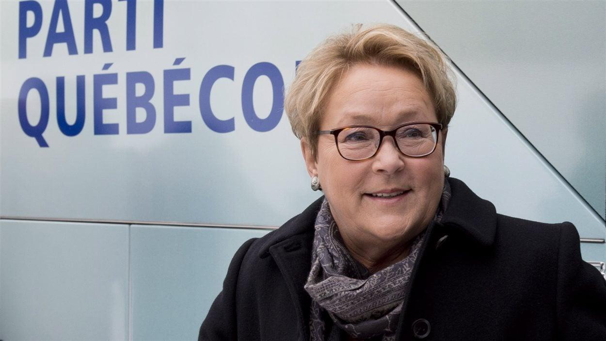La chef péquiste Pauline Marois