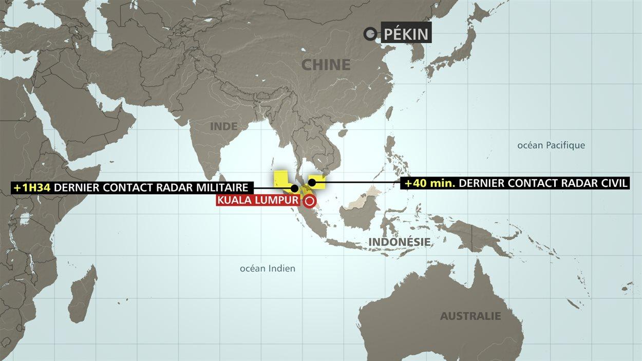 L'avion devait relier Kuala Lumpur à Pékin.
