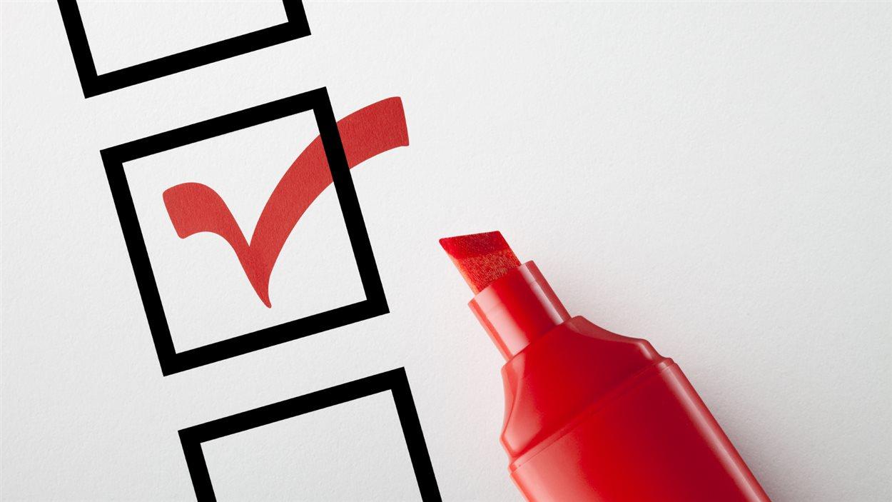 Bulletin de vote coché