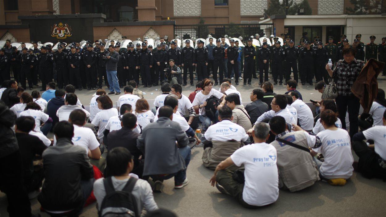 Les manifestants à Pékin
