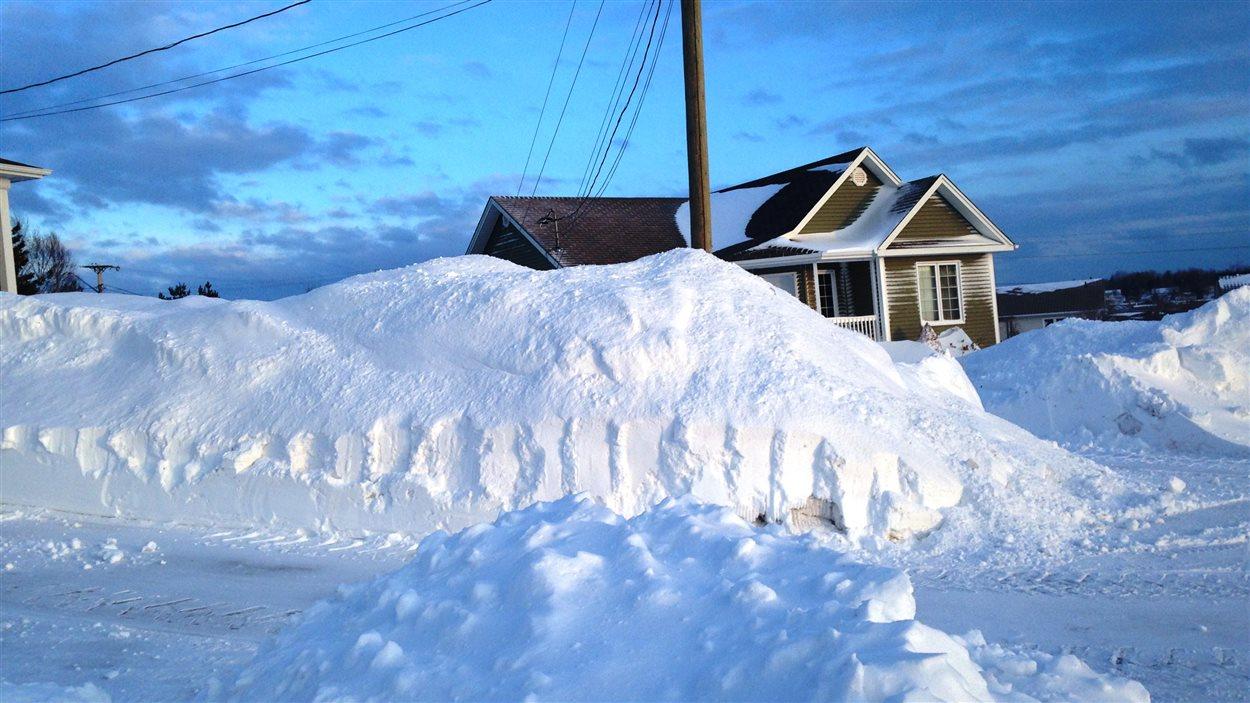 Un quartier résidentiel à Dieppe au Nouveau-Brunswick