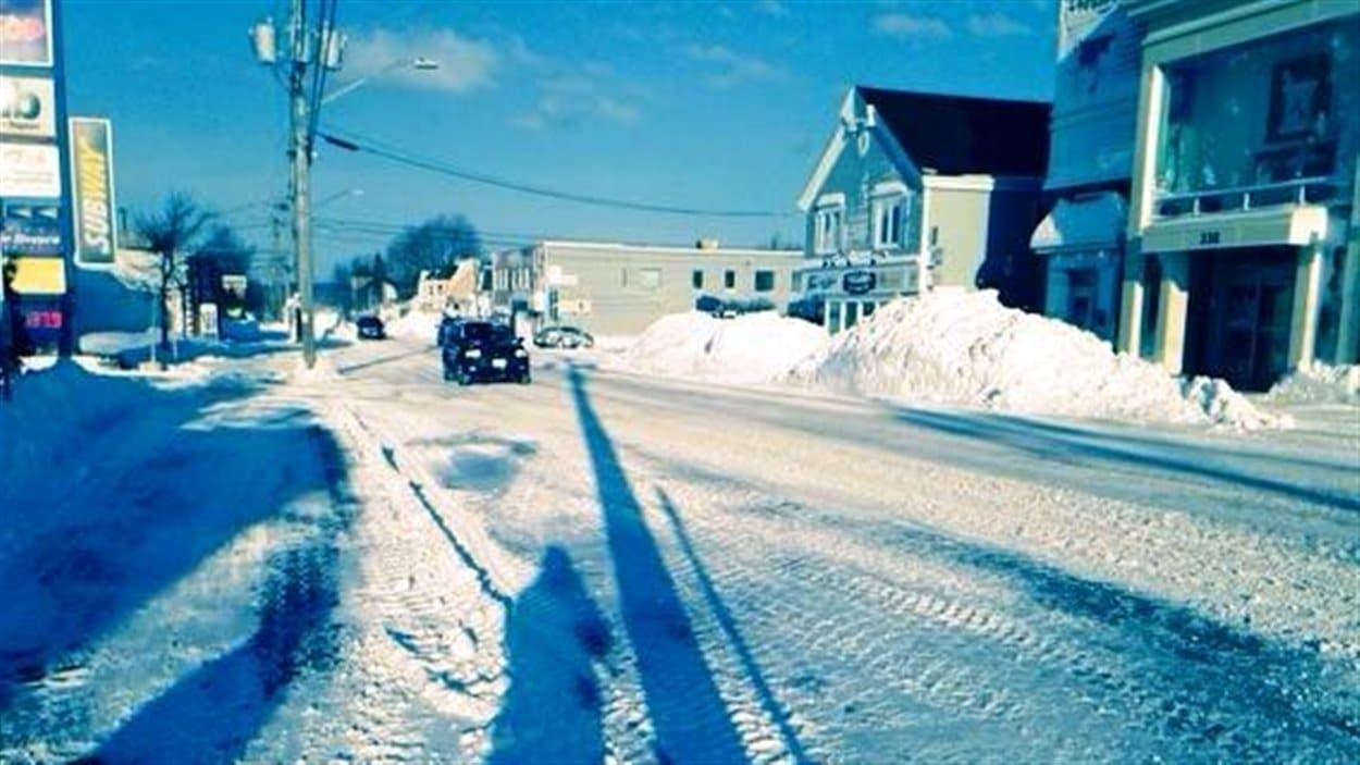 La rue principale de Shediac au Nouveau-Brunswick