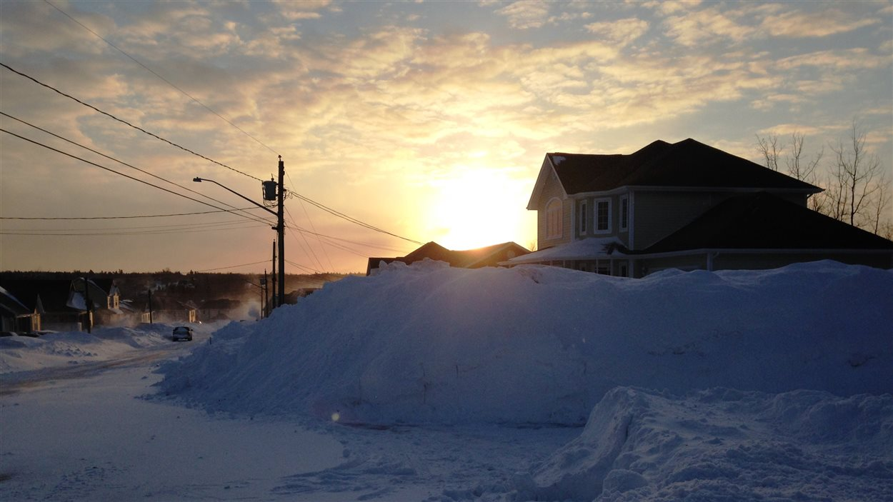 Après la tempête à Dieppe au Nouveau-Brunswick