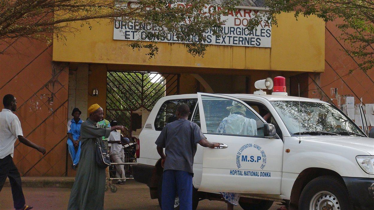 L'hôpital Donka en Guinée accueille les personnes atteintes du virus Ebola.