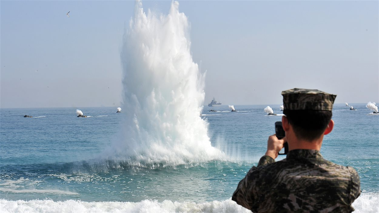 La Corée du Sud procède à des exercices militaires conjoints avec les États-Unis.