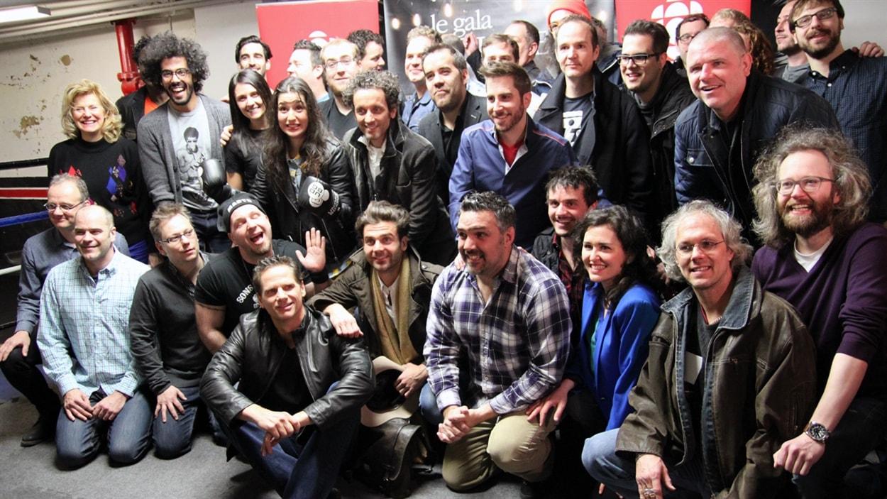 François Morency et les humoristes en nomination au Gala Les Olivier.