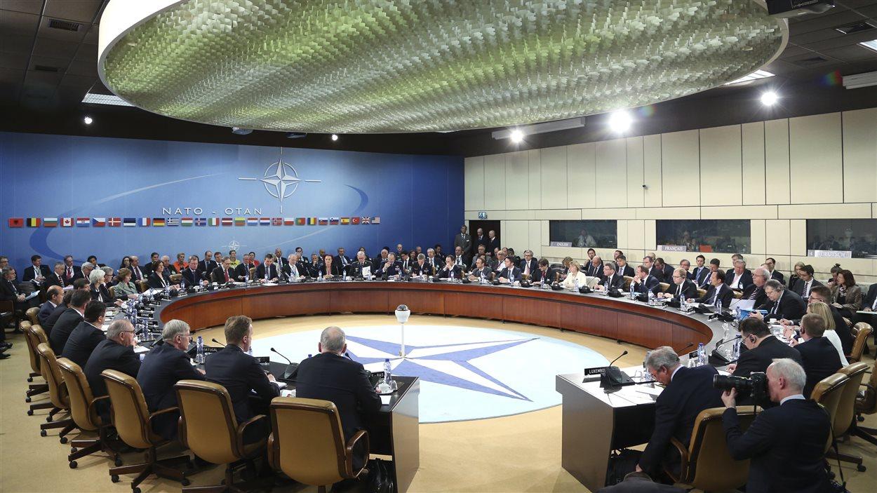 Réunion des ministres des Affaires étrangères de l'OTAN, à Bruxelles