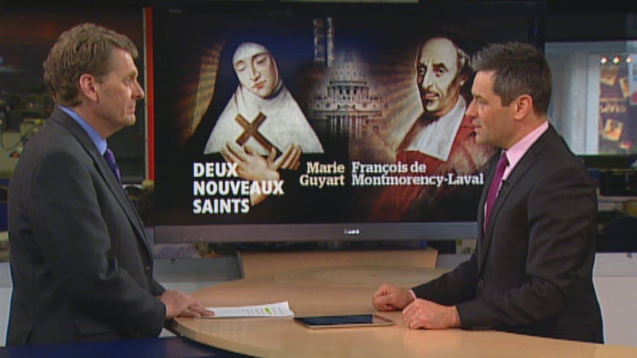 Alain Crevier et Bruno Savard parlent de la canonisation de deux missionnaires.