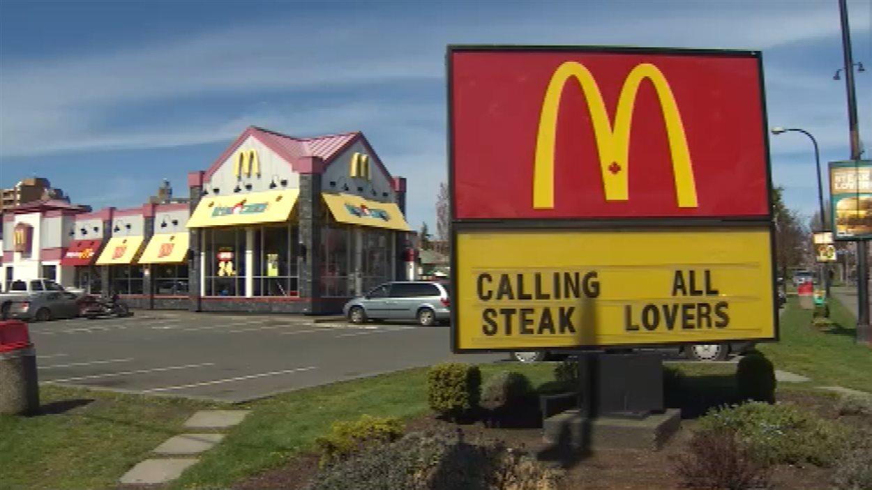 Le restaurant McDonald's de l'avenue Pandora, à Victoria, en Colombie-Britannique, en avril 2014.