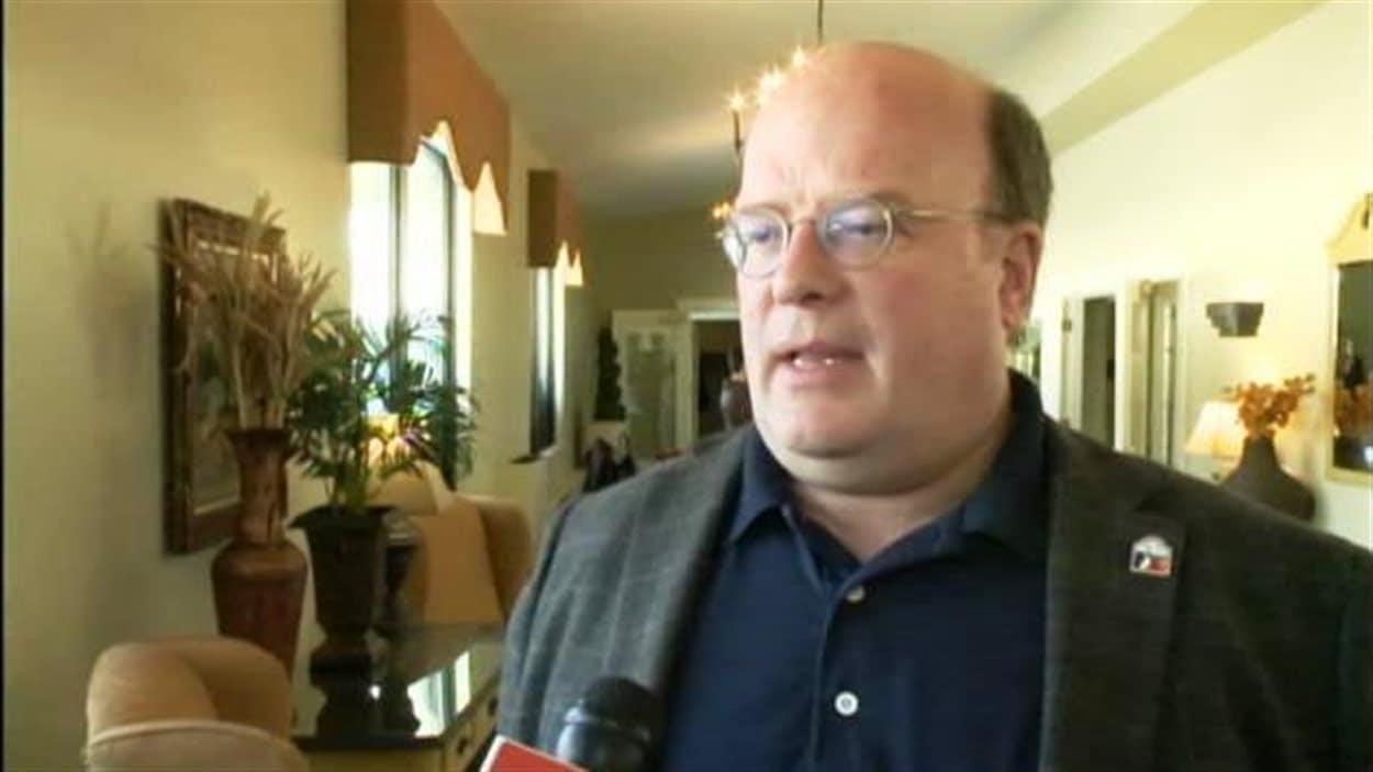 Luc Desjardins, maire de Petit-Rocher