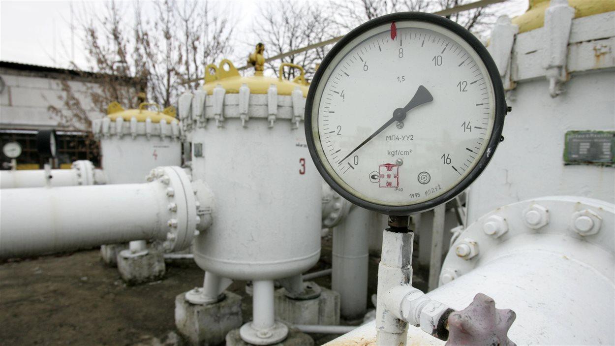Un pipeline à Brody, en Ukraine