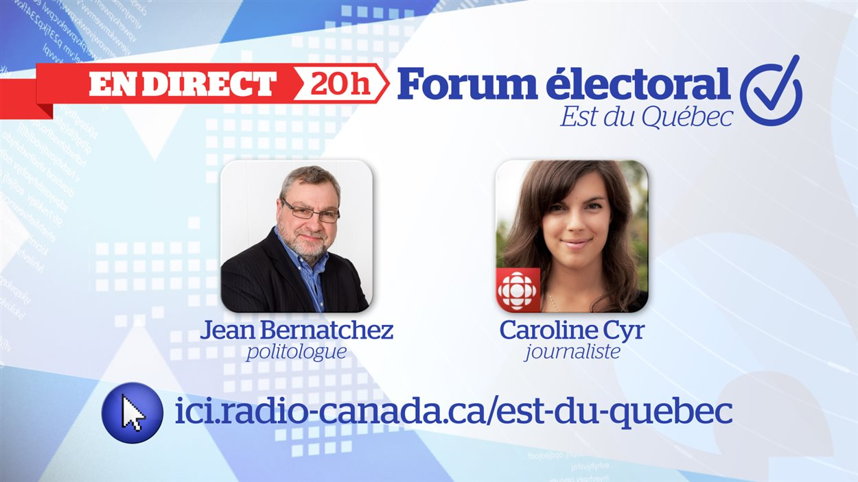 En Direct Forum Electoral De L Est Du Quebec Radio Canada Ca