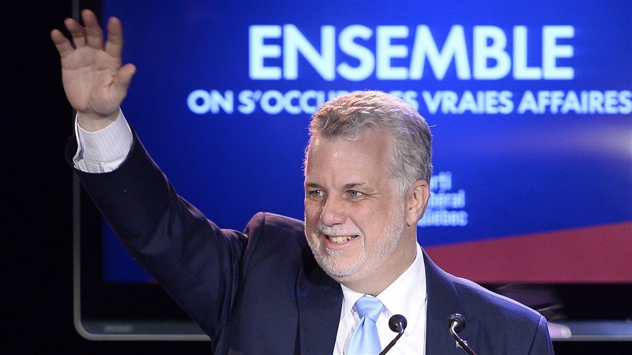 Le prochain premier ministre du Québec, Philippe Couillard, lundi soir, à Saint-Félicien