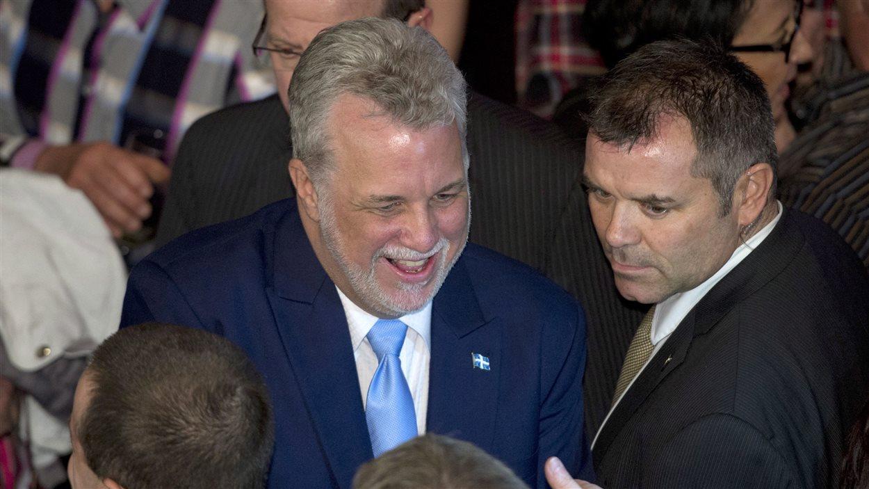 Le prochain premier ministre du Québec, Philippe Couillard, lundi soir, à Saint-Félicien, au Lac-Saint-Jean