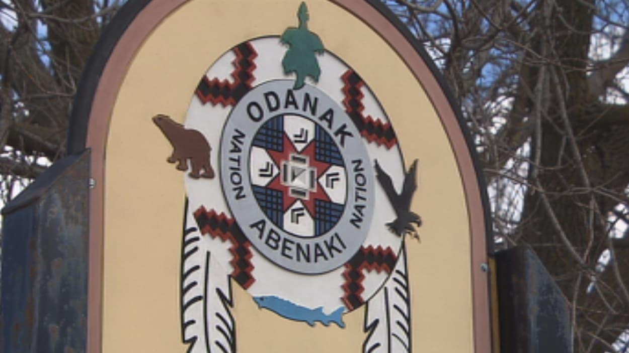 Pancarte à l'entrée d'Odanak