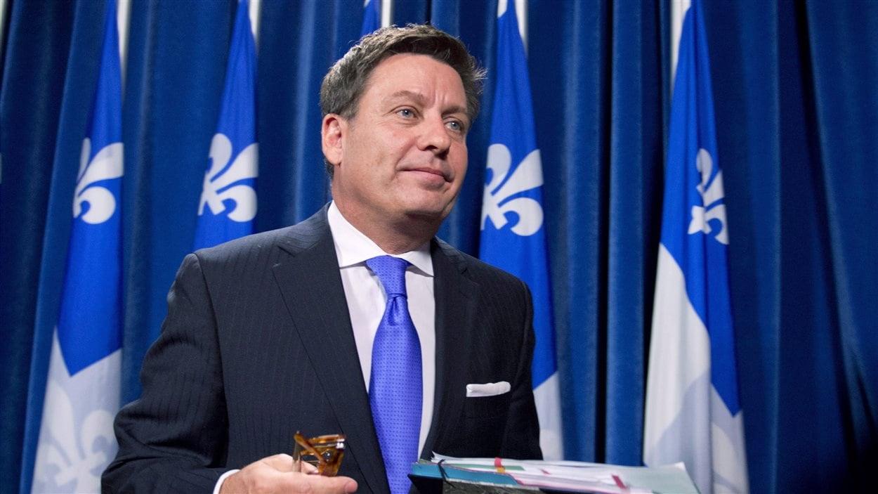 Le député libéral de Chateauguay, Pierre Moreau, en décembre 2013.