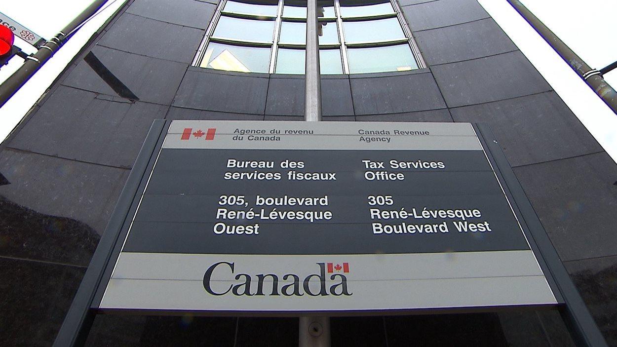 Le bureau montréalais de l'Agence du revenu du Canada.