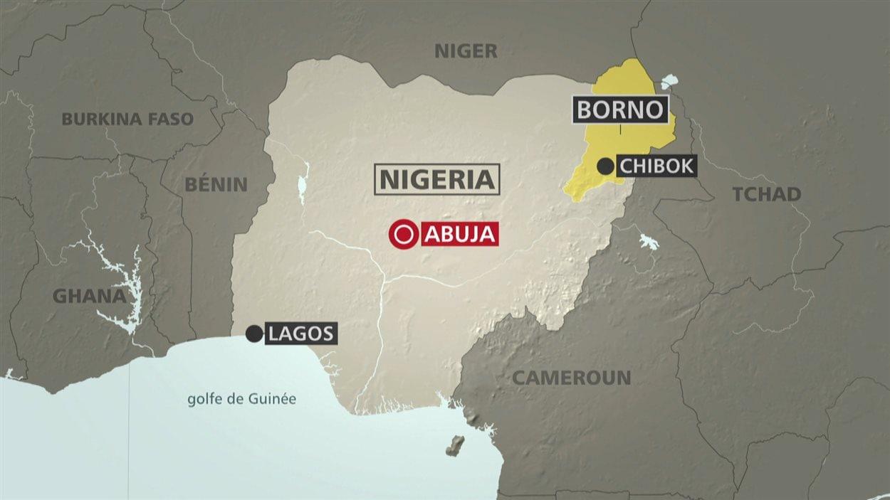 Les jeunes filles ont été enlevées à Chibok, dans le nord-est du Nigeria.