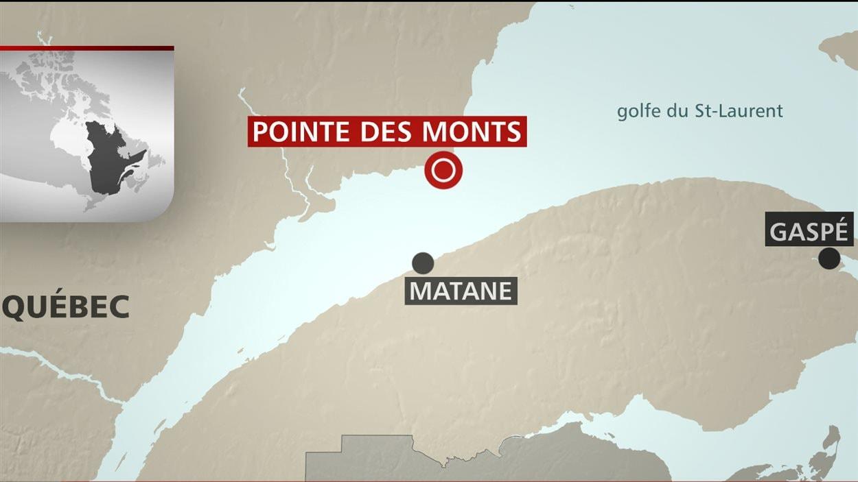 Une opération de sauvetage de trois pêcheurs a eu cours à Pointe-des-monts.