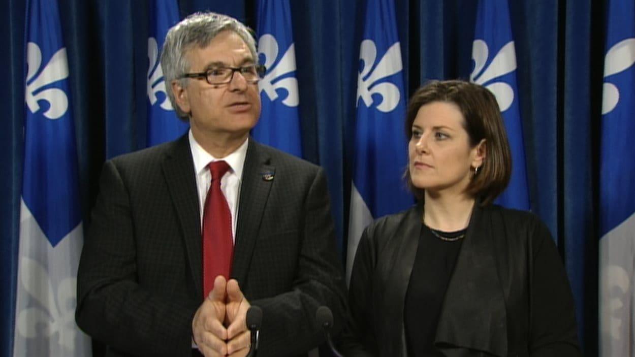 Les ministres Jean-Marc Fournier et Stéphanie Vallée