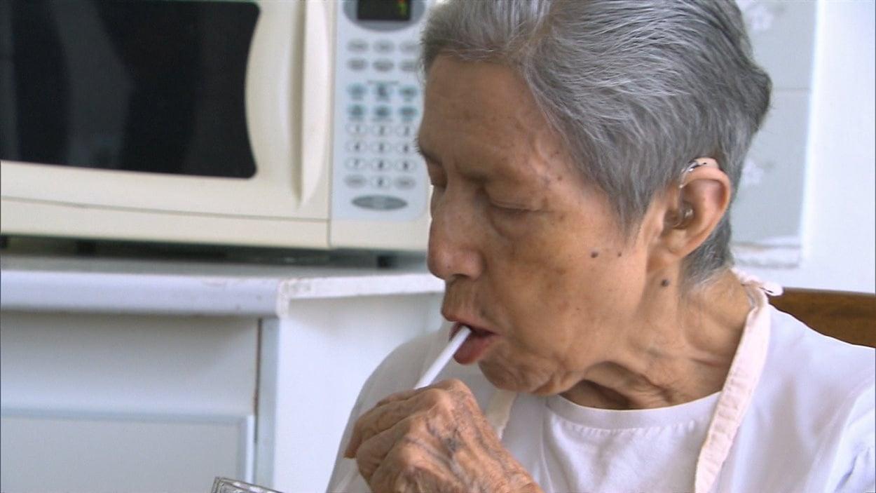 Fanny Albuja, atteinte du Parkinson