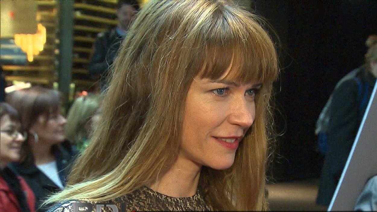 L'actrice Marie-Josée Croze est l'une des interprètes principales du dernier film de Denys Arcand : Le règne de la beauté.