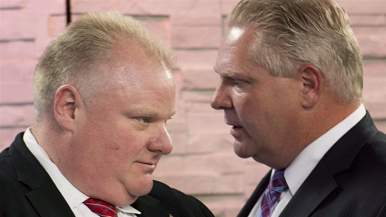 Rob Ford et son frère Doug Ford, fin mars.