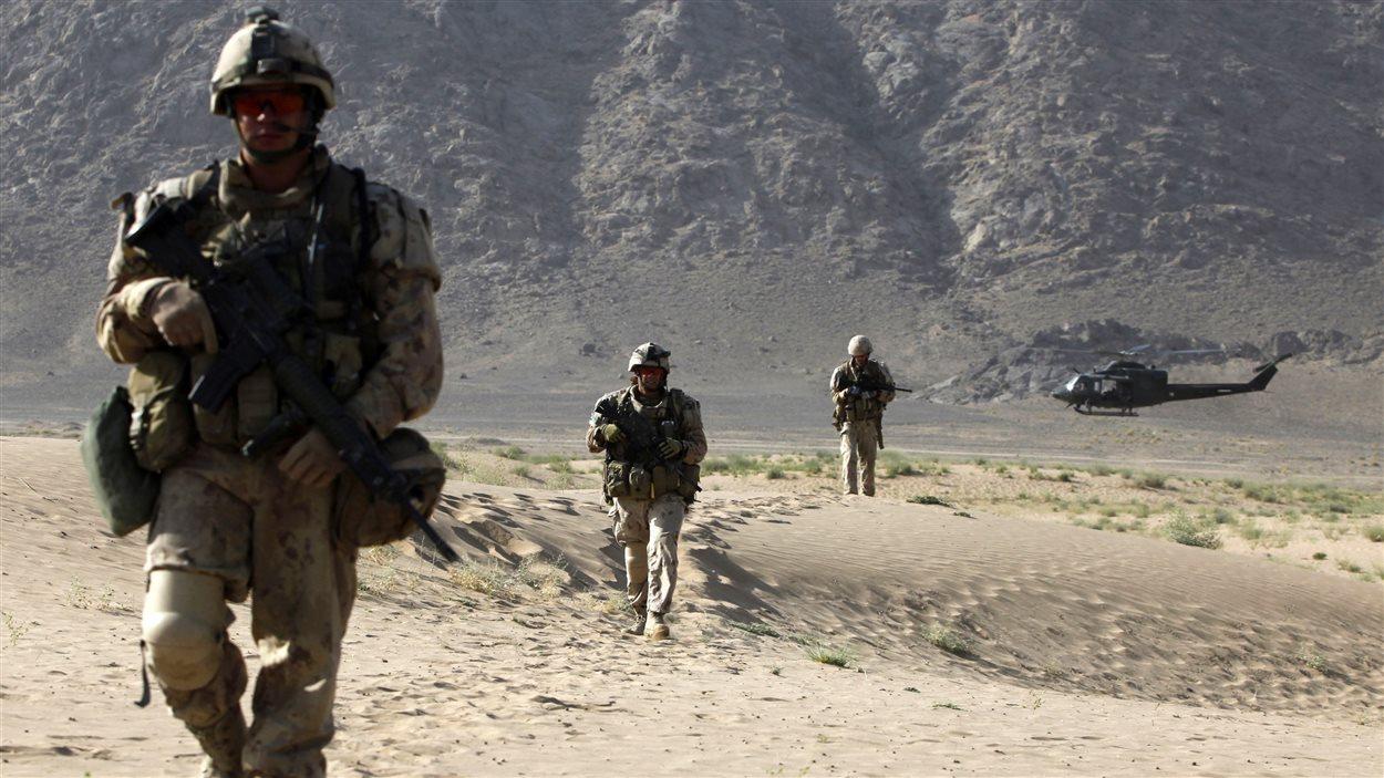 Des soldats canadiens en mission en Afghanistan en 2011.