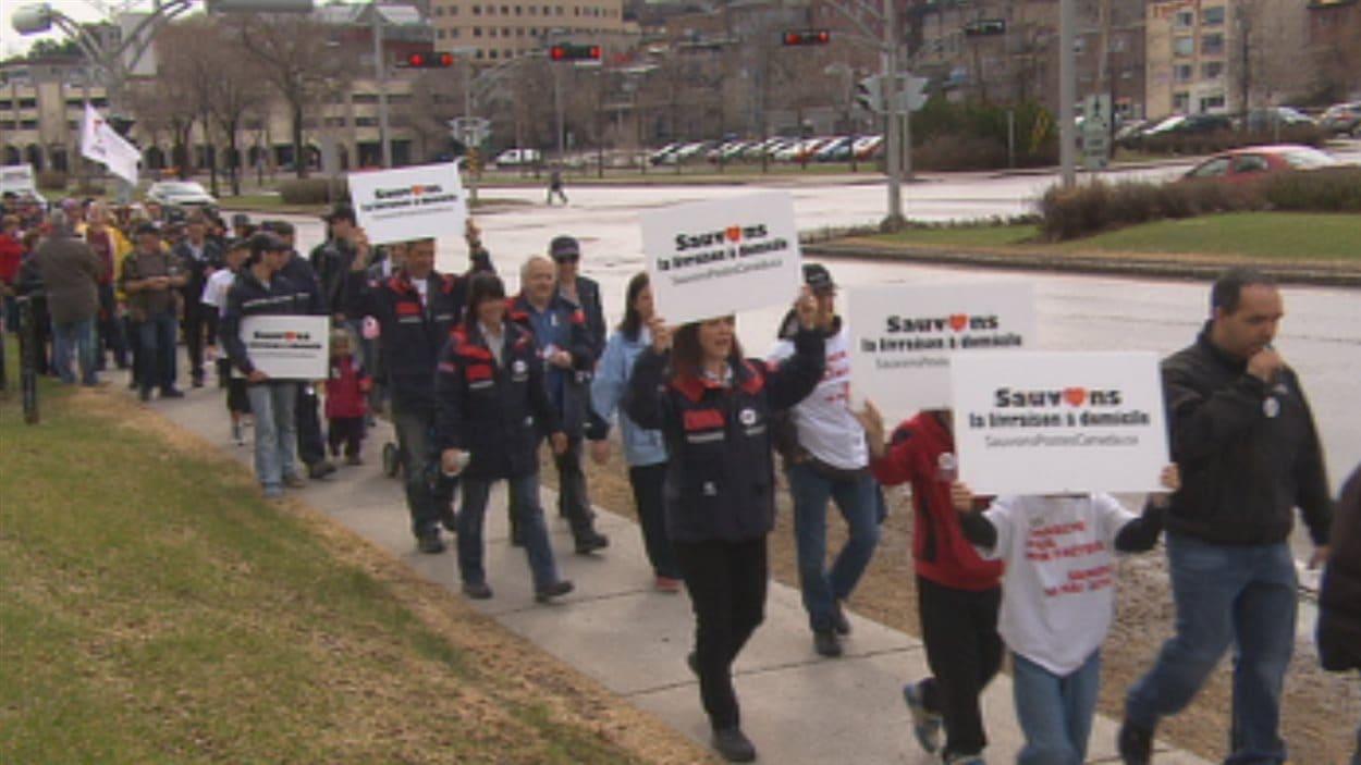 Une marche a aussi été organisée dans l'arrondissement de Chicoutimi à Saguenay.
